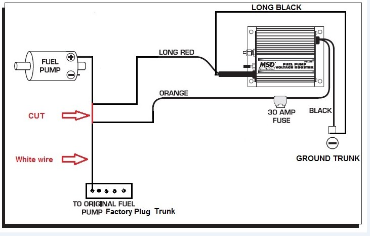 MSD PN Fuel Pump Booster Need Help The Mustang Source - Kenne bell boost a pump wiring diagram