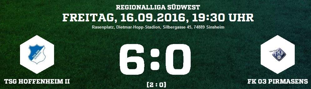 TSG Hoffenheim II - FK Pirmasens 6:0