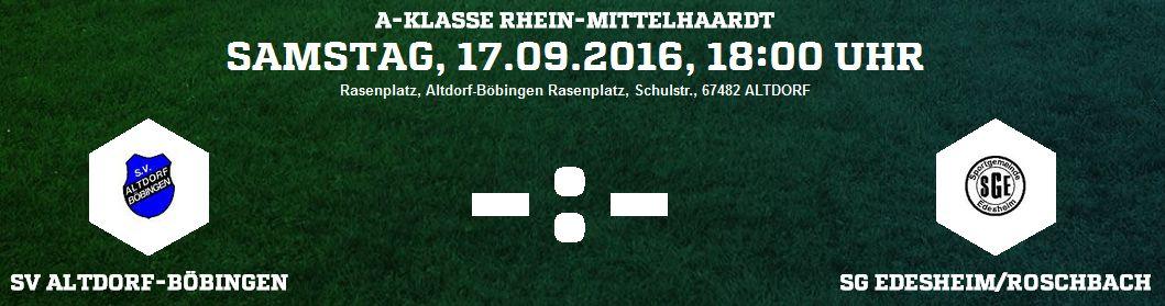 SV Altdorf-Böbingen vs SG Edesheim/Roschbach
